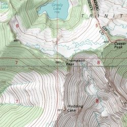 Trinity Alps, Trinity County, California, Range [Thompson Peak USGS ...