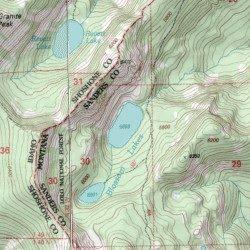 Blossom Lakes, Sanders County, Montana, Lake [Thompson Pass USGS ...