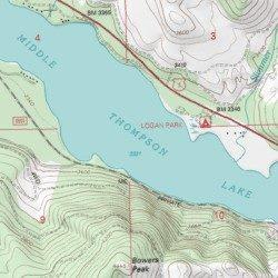 Middle Thompson Lake, Lincoln County, Montana, Lake [Thompson Lakes ...