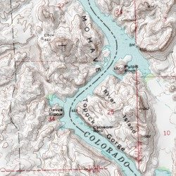 Topock Gorge Map