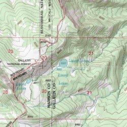 Lizard Lakes, Gallatin County, Montana, Lake [Ousel Falls USGS ...