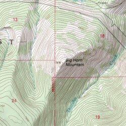 Big Horn Mountain, Cascade County, Montana, Summit [Thunder Mountain ...