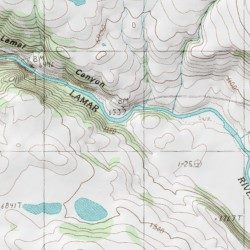 Lamar Valley, Park County, Wyoming, Valley [Lamar Canyon USGS ...