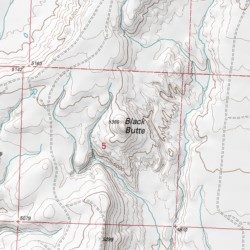 Black Butte, Big Horn County, Wyoming, Summit [Bear Creek Ranch USGS ...