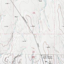 Bozeman Trail, Johnson County, Wyoming, Trail [Brown Ranch USGS ...