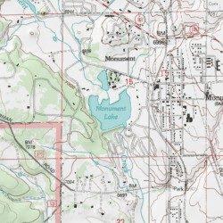 Monument Lake, El Paso County, Colorado, Reservoir [Palmer Lake USGS ...