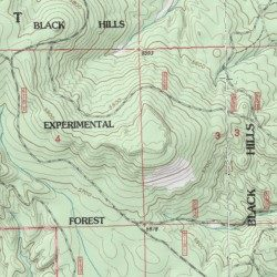 Black Hills Experimental Forest, Lawrence County, South Dakota, Area ...