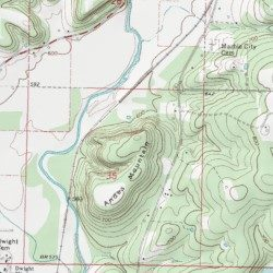 Andes Mountain, Sequoyah County, Oklahoma, Summit [Marble City USGS ...