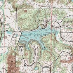 Shawnee Mission Lake, Johnson County, Kansas, Reservoir [Olathe USGS ...