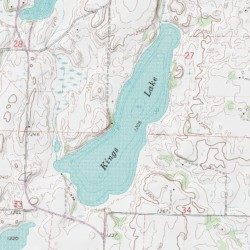 Kings Lake, Stearns County, Minnesota, Lake [Freeport USGS ...