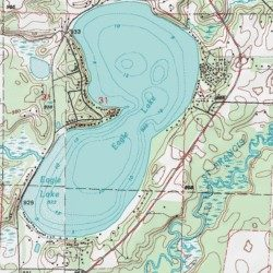 Eagle Lake, Sherburne County, Minnesota, Lake [Orrock USGS ...