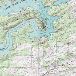 Lake Hamilton, Garland County, Arkansas, Reservoir [Hempwallace USGS ...