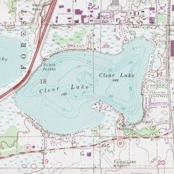 Clear Lake, Washington County, Minnesota, Lake [Linwood USGS ...