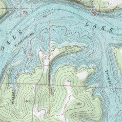 Bull Shoals Lake, Marion County, Arkansas, Reservoir [Peel USGS ...