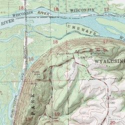 Wyalusing State Park, Grant County, Wisconsin, Park [Brodtville USGS ...