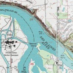 Des Plaines River, Grundy County, Illinois, Stream [Minooka ...