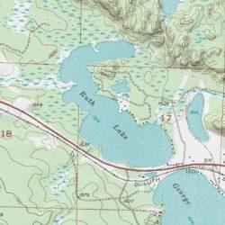 Ruth Lake, Baraga County, Michigan, Lake [Three Lakes USGS ...
