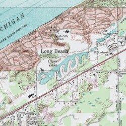 Clare Lake, LaPorte County, Indiana, Lake [Michigan City East USGS ...