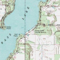 Bass Lake State Beach, Starke County, Indiana, Beach [Bass Lake USGS ...
