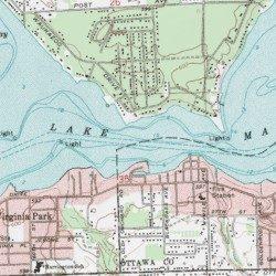 Lake Macatawa, Ottawa County, Michigan, Lake [Holland West USGS ...