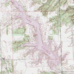 Lake Santee, Decatur County, Indiana, Reservoir [Clarksburg USGS ...