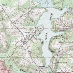 Lyman Lake, Spartanburg County, South Carolina, Reservoir [Greer ...
