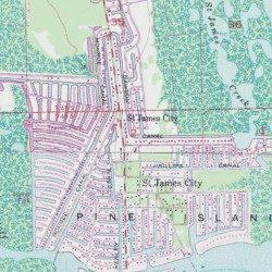 Dawson Canal, Lee County, Florida, Canal [Pine Island Center USGS ...