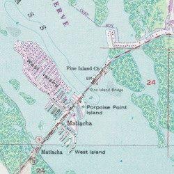 Pine Island Bridge, Lee County, Florida, Bridge [Matlacha USGS ...