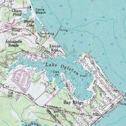Lake Ogleton, Anne Arundel County, Maryland, Bay [Annapolis USGS ...