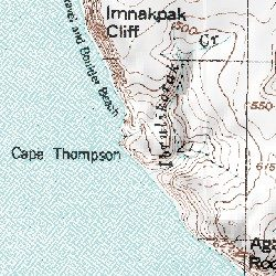 Point Thompson Alaska Map.Cape Thompson North Slope County Alaska Cape Point Hope A 2 Usgs