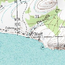 Bluff Alaska Map.Bluff Nome Ca County Alaska Populated Place Solomon C 4 Usgs