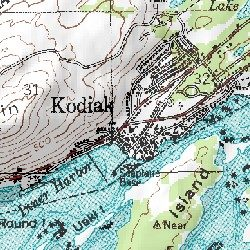 Kodiak Kodiak Island County Alaska Populated Place Kodiak D - Usgs topo maps alaska