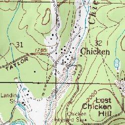 Chicken, Southeast Fairbanks (CA) County, Alaska, Populated