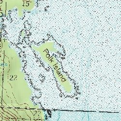 Polk Island, Prince of Wales-Hyder (CA) County, Alaska, Island ... on sitka topo map, london topo map, hood topo map, canada topo map, ocean topo map, scotland topo map, charlotte topo map, france topo map, churchill topo map,