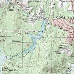 Lake Merritt Coos County Oregon Reservoir Coos Bay Usgs