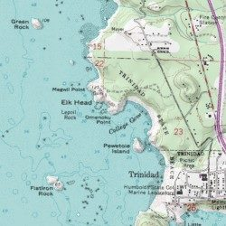 Omenoku Point Humboldt County California Cape Trinidad Usgs