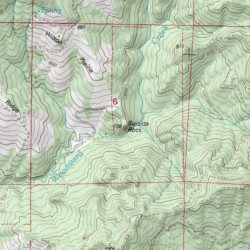 Suicide Rock Coos County Oregon Summit Powers Usgs Topographic