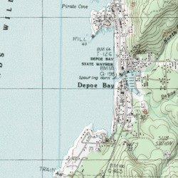 Depoe Bay Lincoln County Oregon Bay Depoe Bay Usgs Topographic