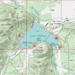 Lake Selmac Josephine County Oregon Reservoir Selma Usgs
