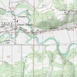 Grand Ronde Oregon Map.Rock Creek Polk County Oregon Stream Grand Ronde Usgs