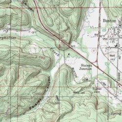 Paisley Canyon Washington County Oregon Valley Buxton USGS