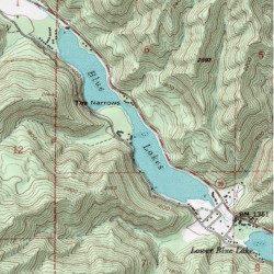 Blue Lakes Lake County California Lake Cow Mountain Usgs