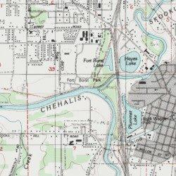 Lewis County Washington Map.Skookumchuck River Lewis County Washington Stream Centralia Usgs