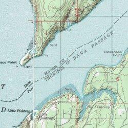 Dana Passage Mason County Washington Channel Longbranch Usgs