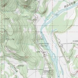 Takelma County Park Jackson County Oregon Park Shady Cove Usgs