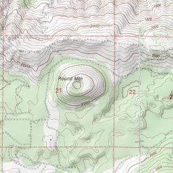 Round Mountain, Lake County, California, Summit [Clearlake Oaks USGS on