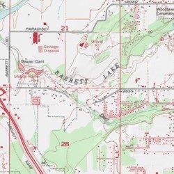 Ferndale Washington Map.Barrett Lake Whatcom County Washington Reservoir Ferndale Usgs