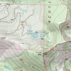 Crater Lake Topographic Map.Crater Lake Siskiyou County California Lake China Mountain Usgs