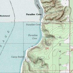King County Topographic Map.Paradise Cove King County Washington Bay Gig Harbor Usgs