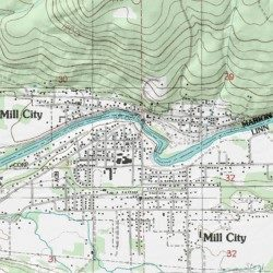 Mill City Oregon Map.Mill City Linn County Oregon Populated Place Mill City North